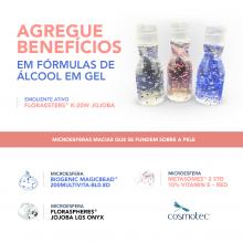 AGREGUE BENEFÍCIOS EM SUAS FÓRMULAS DE ÁLCOOL EM GEL