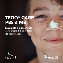 TEGO® Care PBS 6 MB - Emulsionante PEG-FREE O/A para formulações fluidas/sprays
